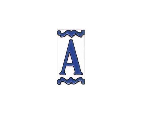 Letra o número Serie Mini Azul 5 x 10 cm.