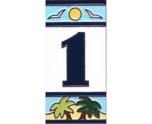 Número Serie Playa 7,5 x 15 cm.