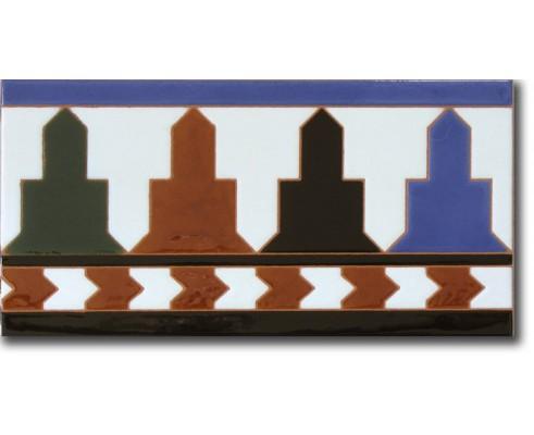 Azulejo árabe pintado a mano remate R520