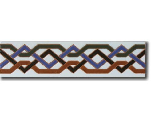 Azulejo rabe pintado a mano cenefa c540 azulejos campos for Azulejos on line