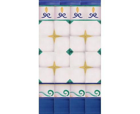 Zócalo pincelado mod.2554 - Altura 110 cm.