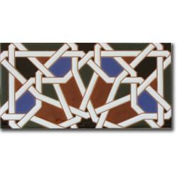 Azulejo árabe pintado a mano fondo F540