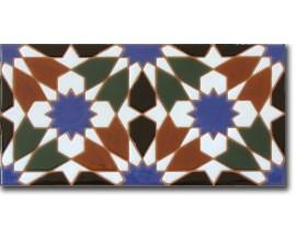 Azulejo árabe pintado a mano fondo F570