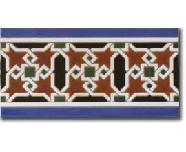 Azulejo árabe pintado a mano cenefa P520