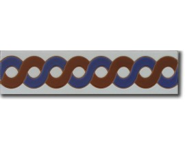Azulejo árabe pintado a mano cenefa C510
