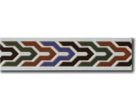 Azulejo árabe pintado a mano cenefa C530