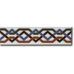 Azulejo árabe pintado a mano cenefa C540