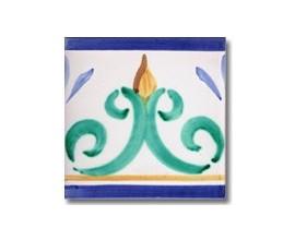 Azulejo pincelado cenefa SV2107